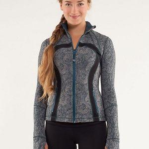 Lululemon Define Jacket Rose Herringbone Gray 8